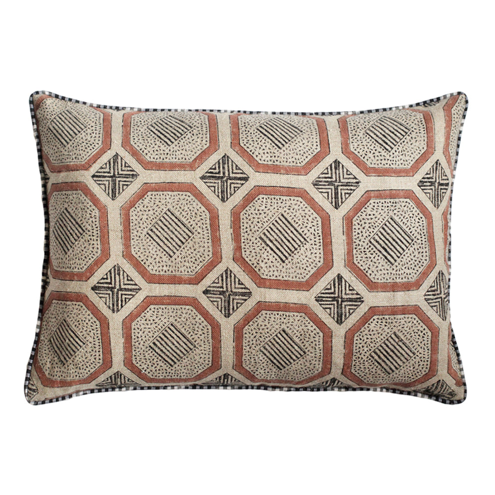 Evara Saffron art deco throw pillow