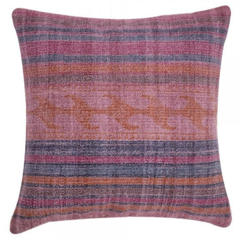 Handmade Magenta Overdyed Cotton Pillow