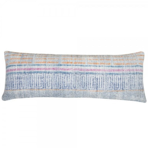 Handmade Indigo and Orange Overdyed Cotton Pillow