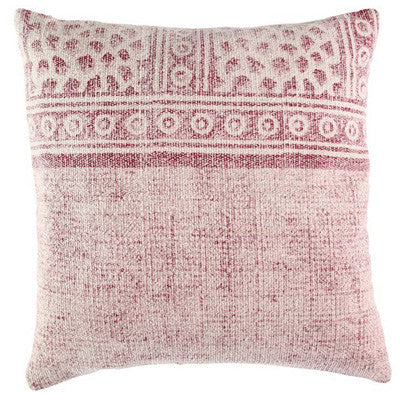Handmade Pink Overdyed Cotton Pillow