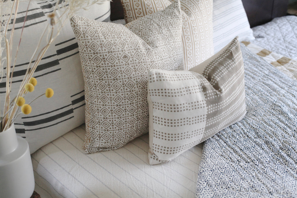 Hand block printed pillows