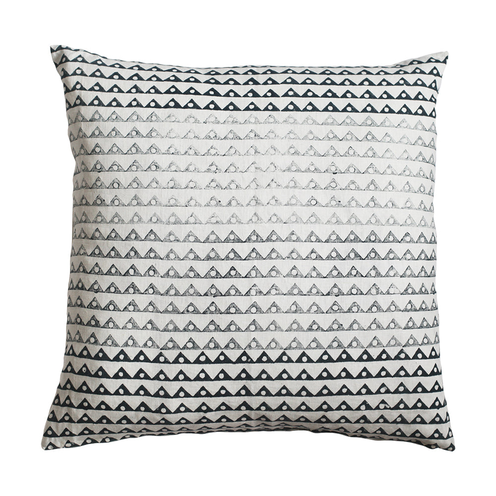 Koyota Shades of Indigo geometric ombre pillow