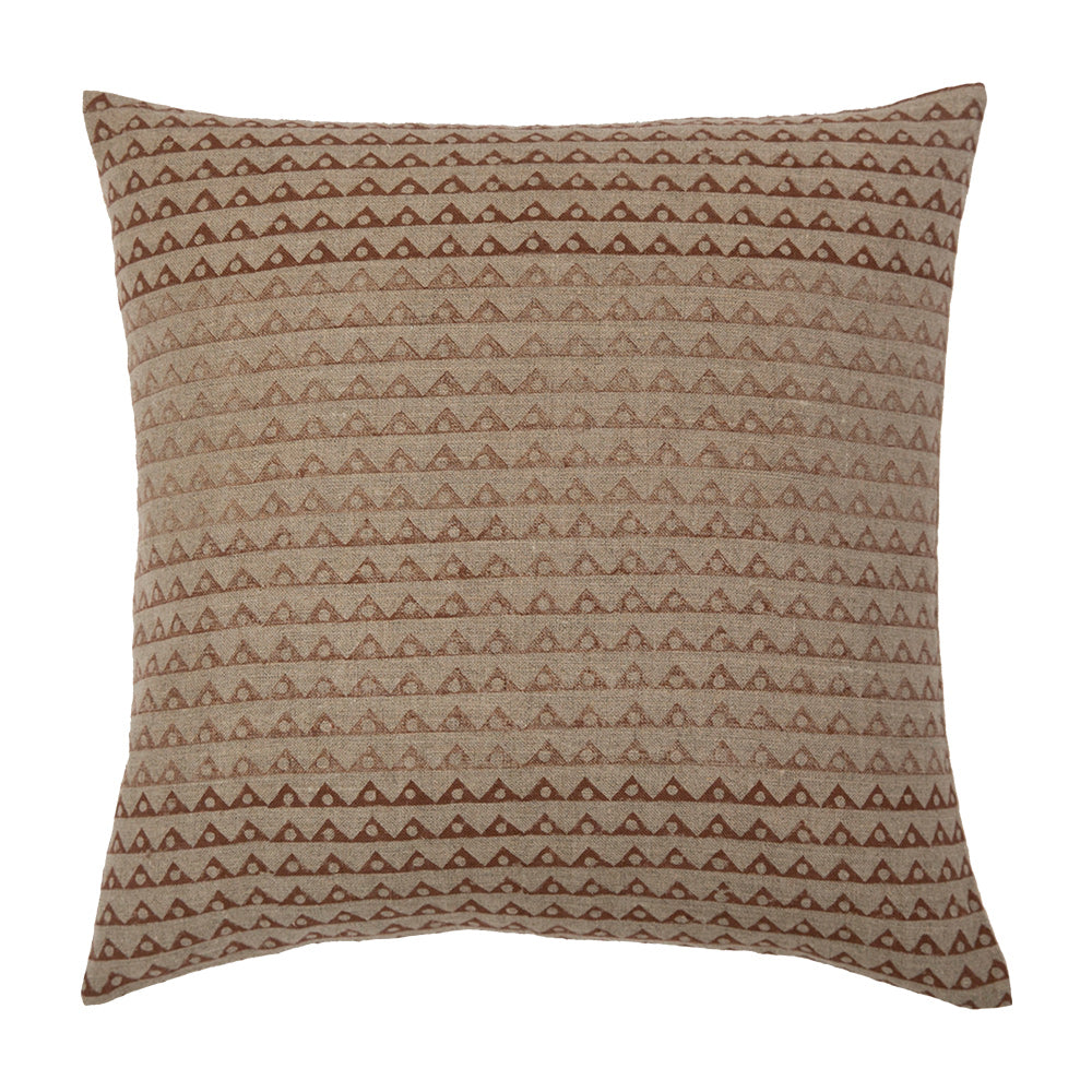 Koyota Shades of Saffron geometric ombre throw pillow