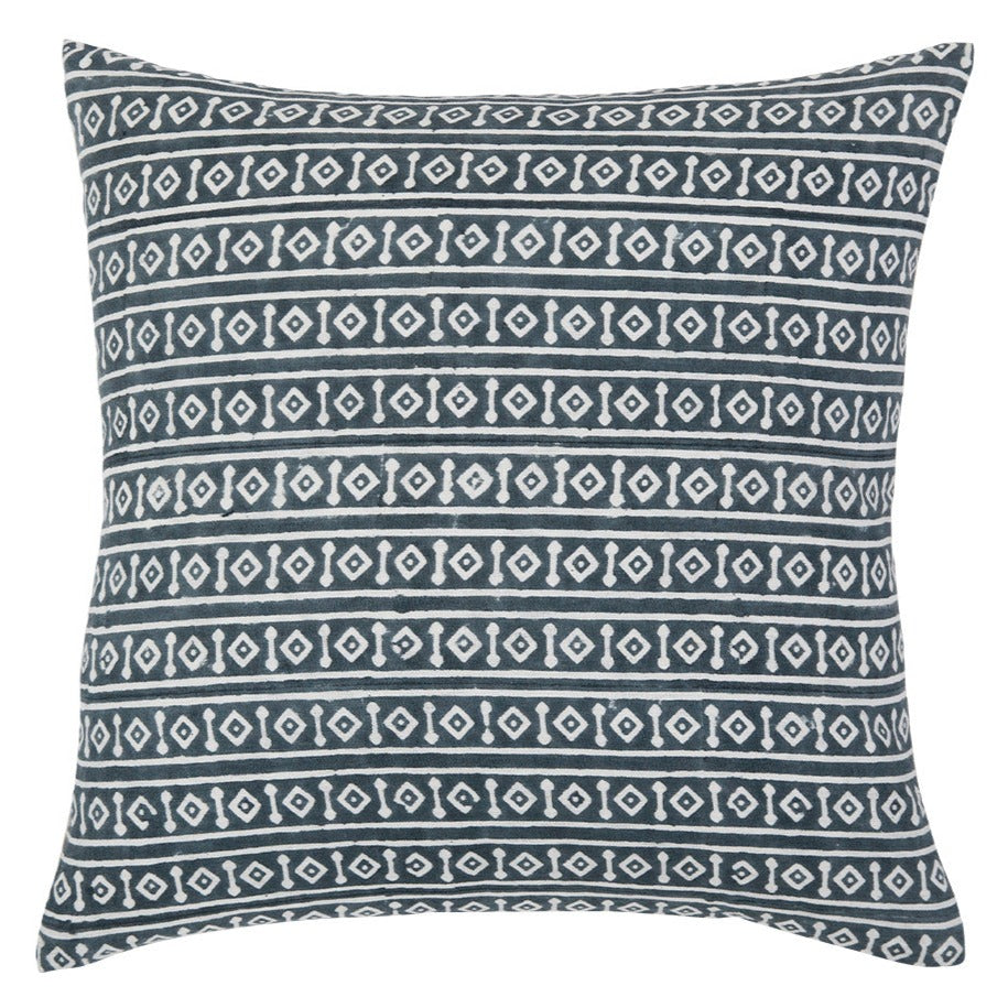 Misa Teal geometric throw pillow