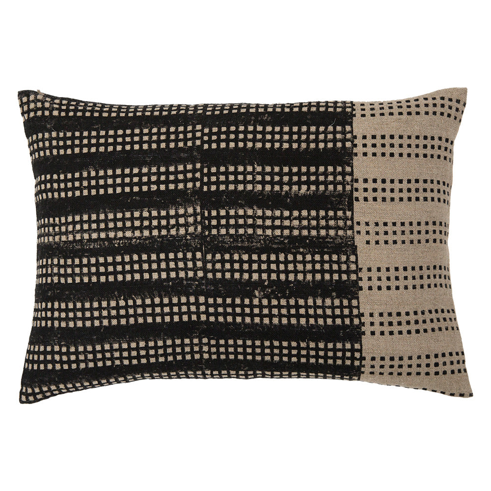 Nepsa Black Band 14x20 throw pillow