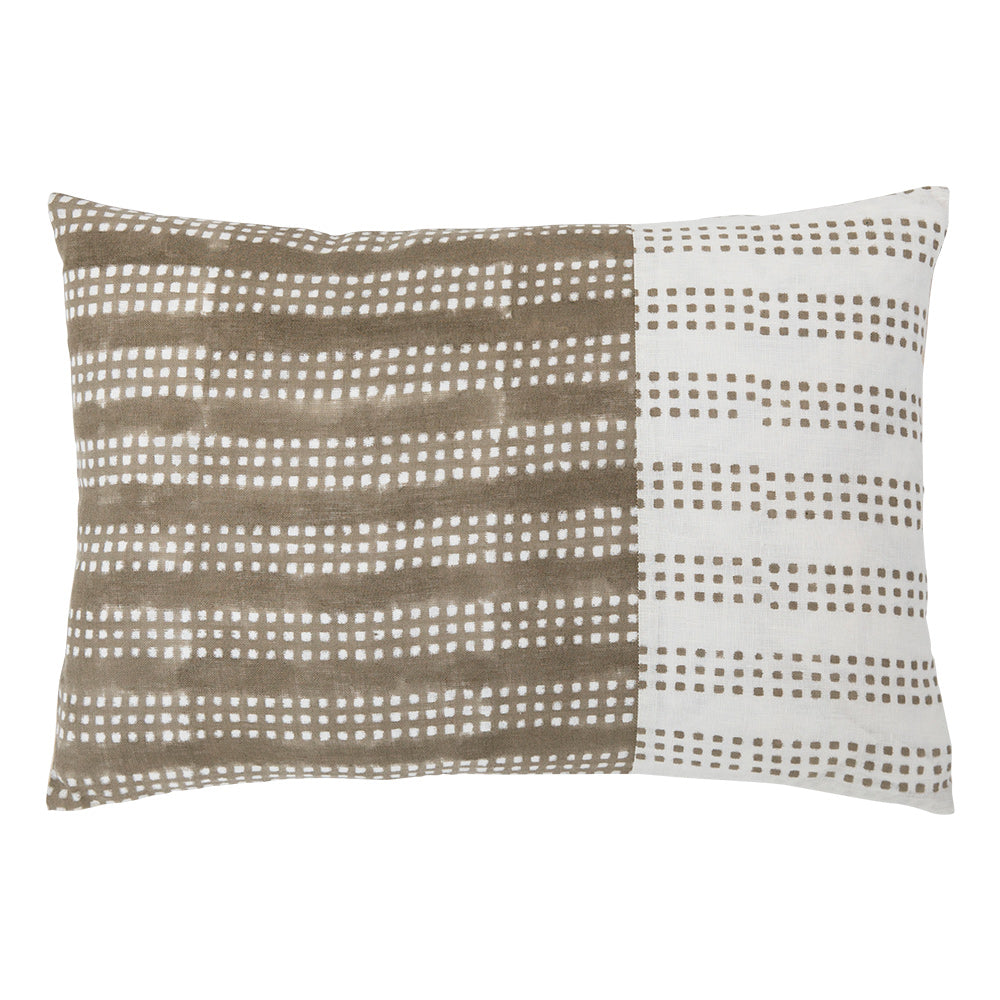 Nepsa Gray Band 14x20 throw pillow