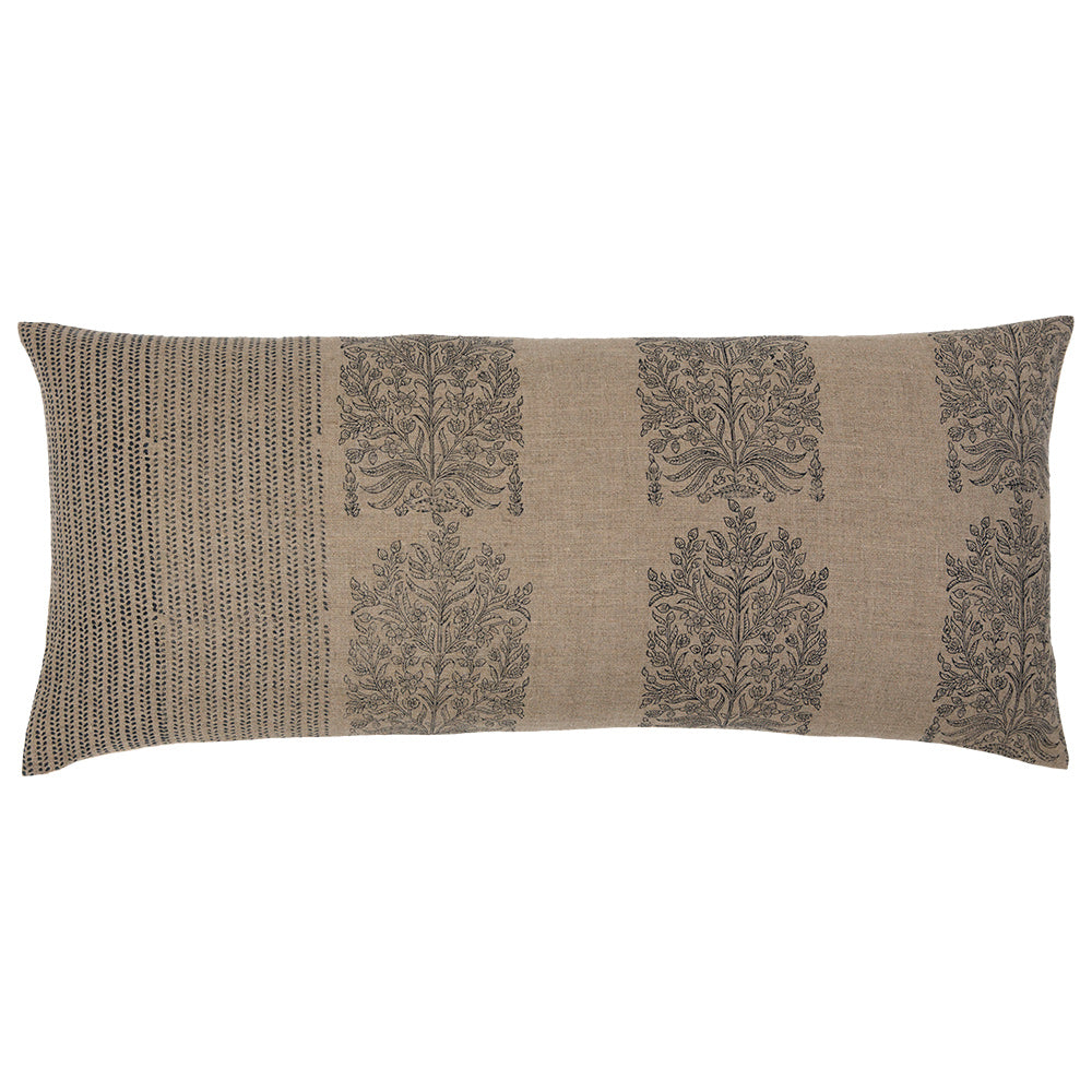 Ripple and Fleur 100% linen lumbar pillow