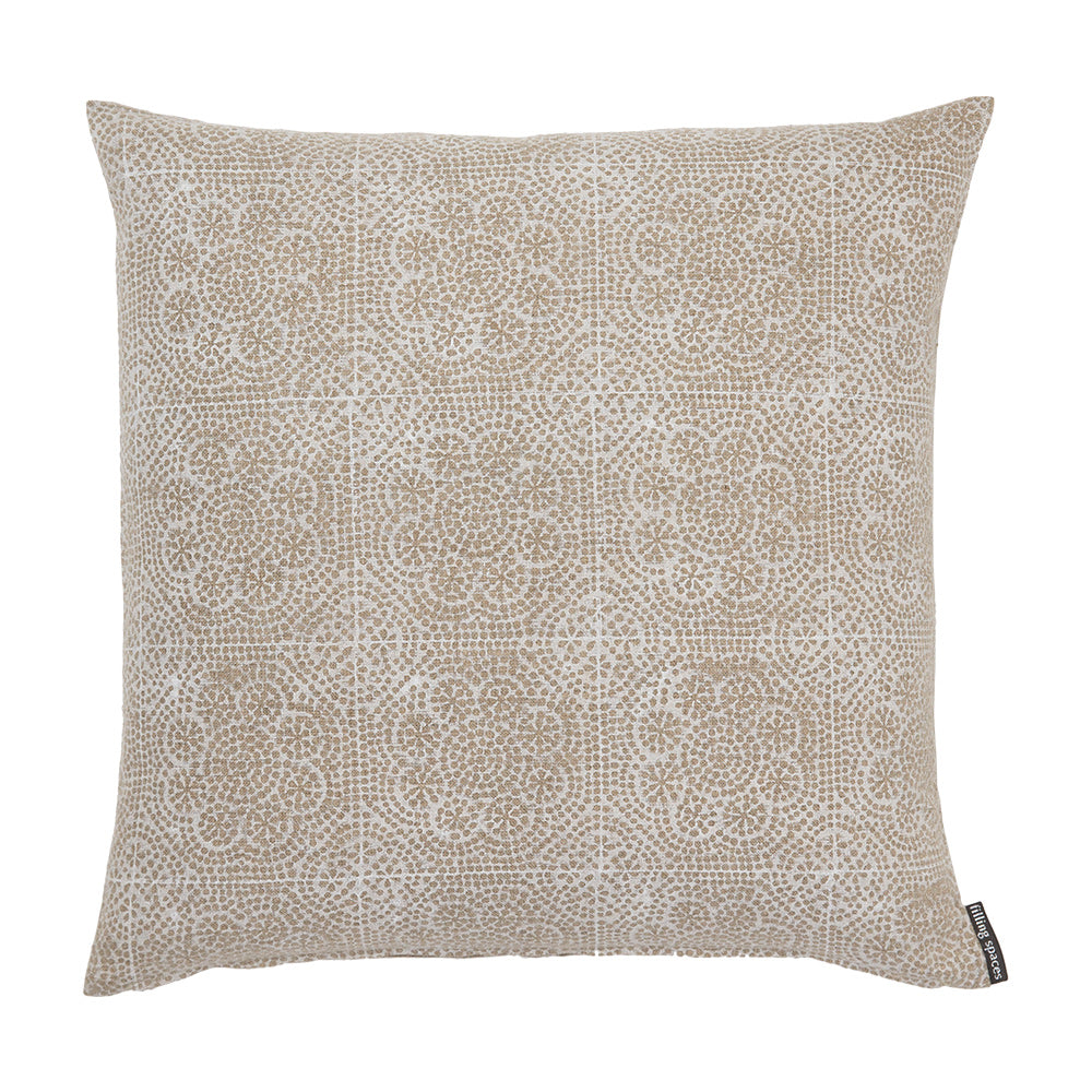 Wisteria White floral throw pillow