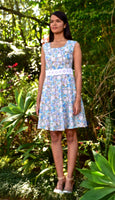 Floral Cotton Torchan Waistline Dress