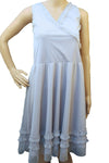 Grey Mesh Frill Dress
