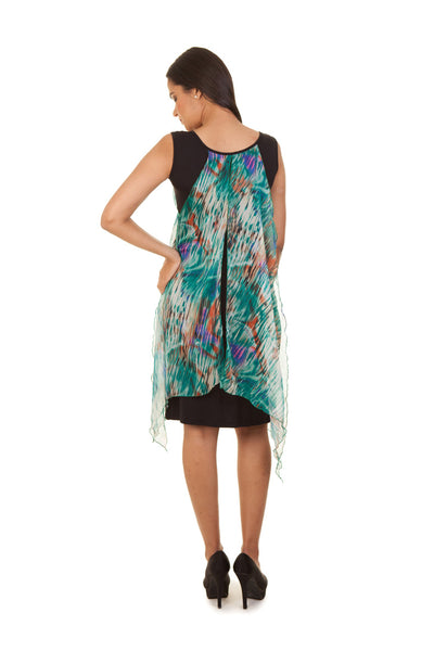 Floral Scarf Dress (Green)