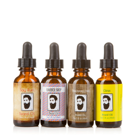 Men's Beard Oil, Set of 4 Bottles