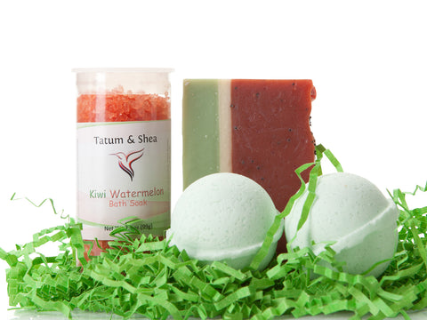 Spa Set - Melon - Soap, Bath Salts & Bath Bombs