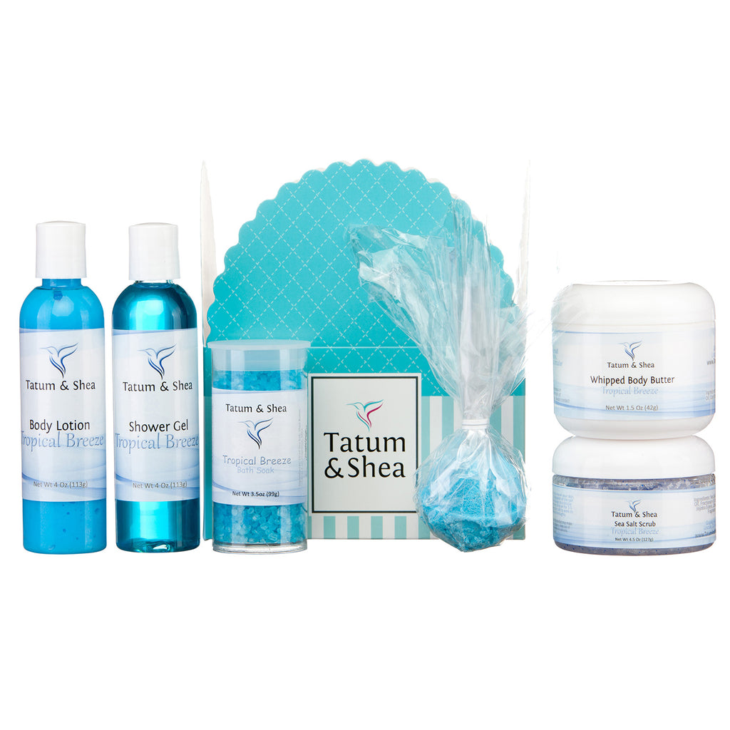 Spa Gift Set, 6 Pack, Tropical Breeze