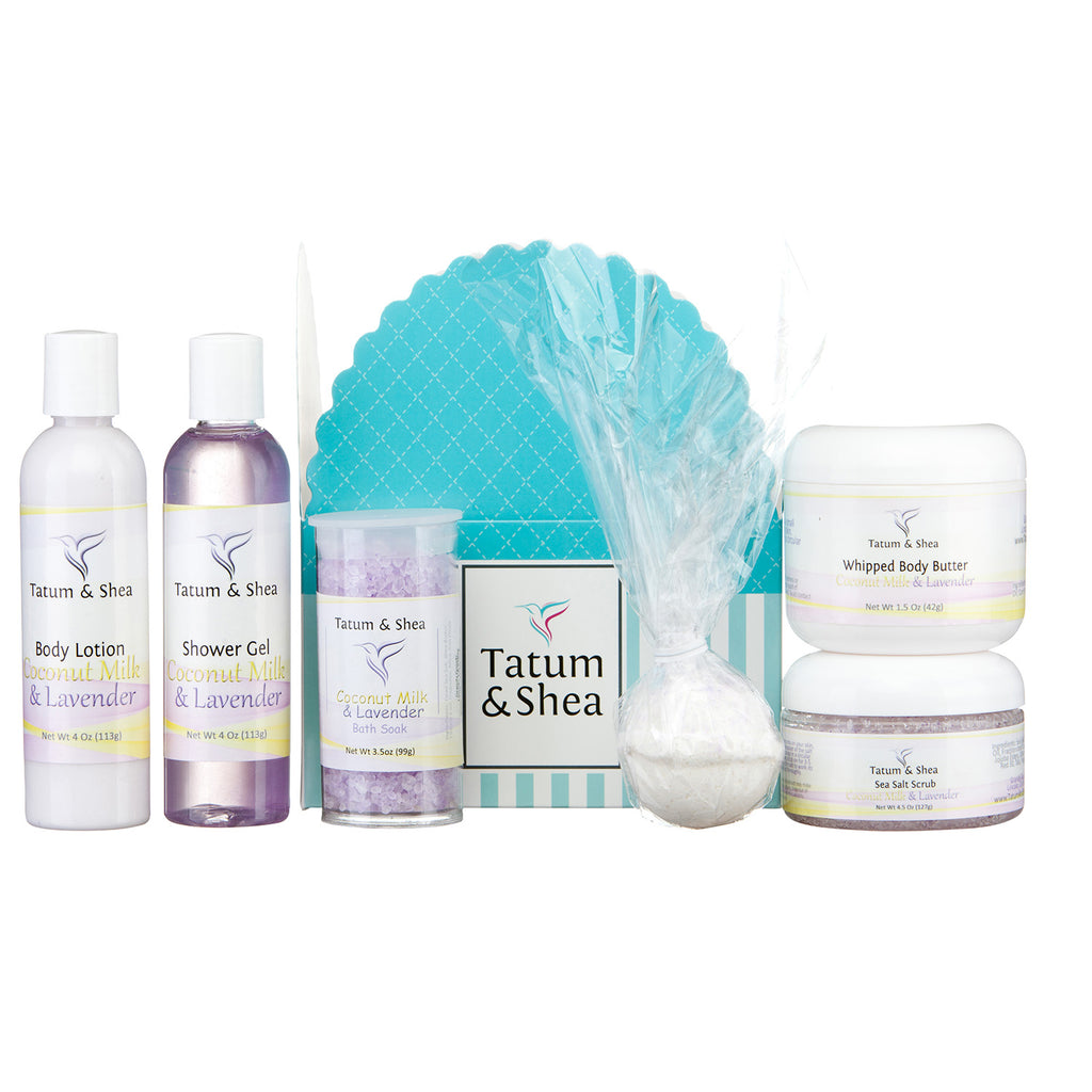 Spa Gift Set, 6 Pack, Coconutmilk & Lavender