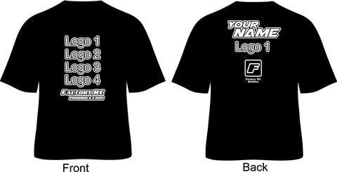 Personalized RC Racing Shirt (Basic Black and White)