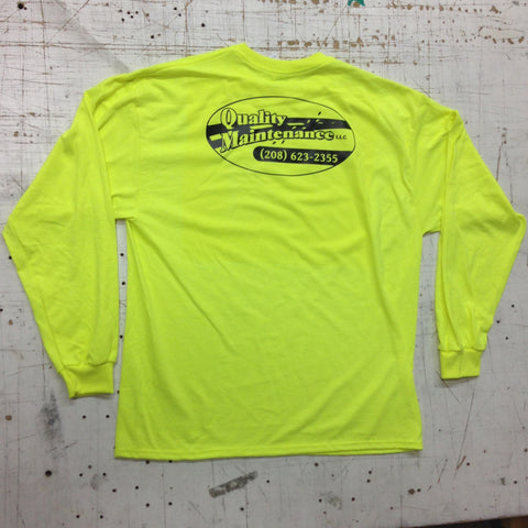 Flo Yellow Green Company Long Sleeve Shirt