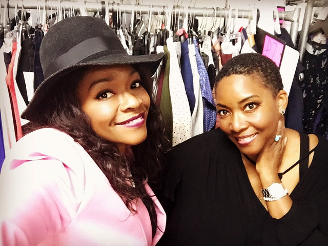 "Rita McGhee and sister Alita Bailey, Costume Designer and Assistant Costume Designer for ABC's New Series ""The Mayor"""
