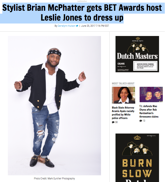 Stylist Brian McPhatter gets BET Awards host Leslie Jones to dress up