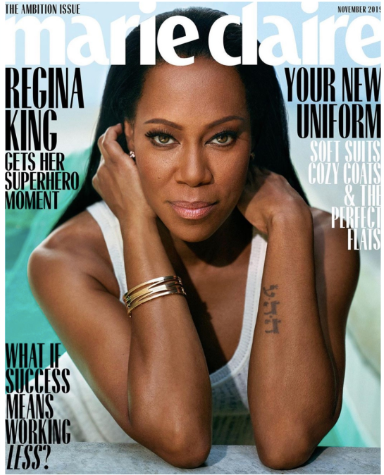 Oscar Winner Regina King graces the cover of Marie Claire's November issue