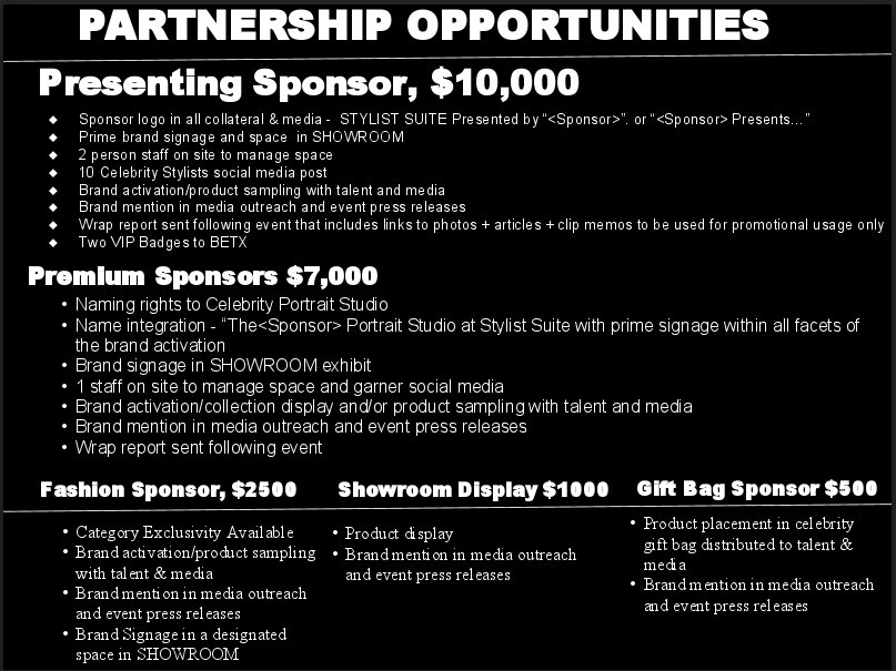 Stylists Suite Partnership Opportunities