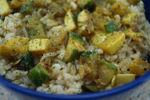 Veggie Fried Rice with Squash & Zucchini | Skillit Cooking, Skillet Recipes