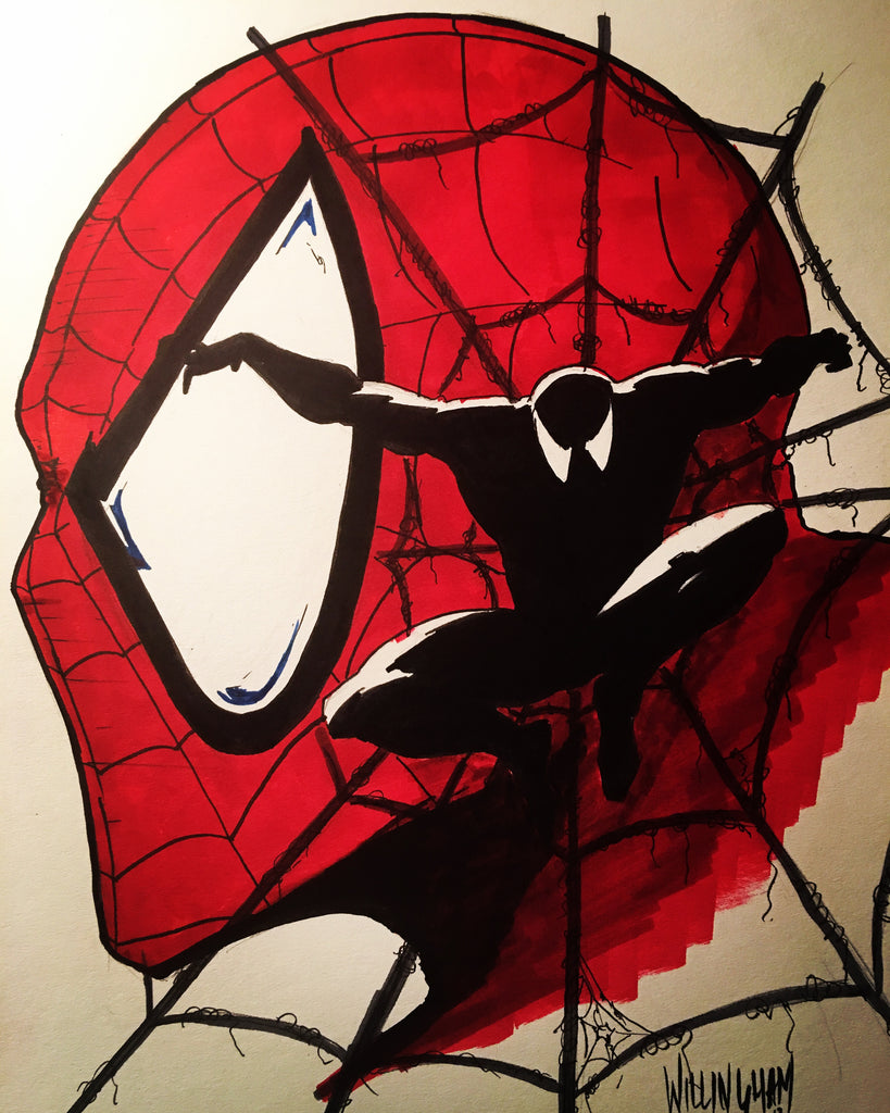 Spiderman red and black