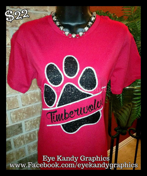 Woodcreek Timberwolves ~ split paw design