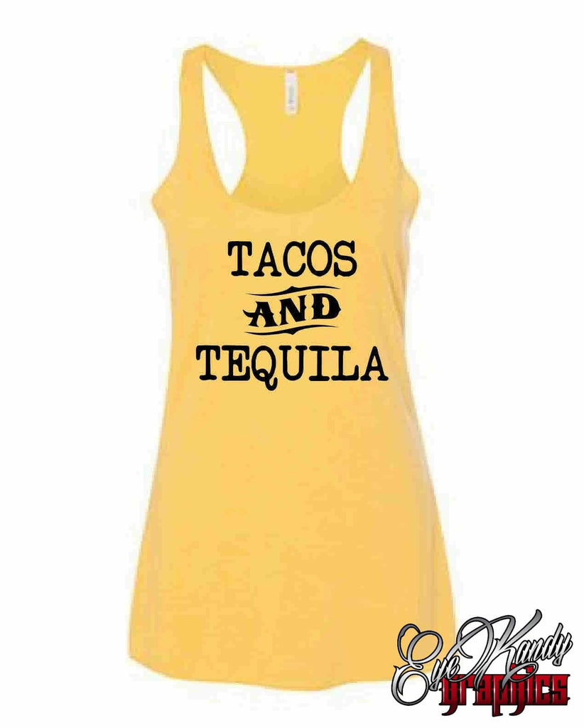 Taco and Tequila ~ Cinco de Mayo ~ Taco Tuesday ~ drinking shirt