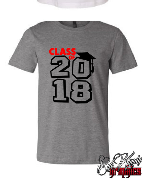 CLASS OF 2018 / Graduation Shirt / Seniors 2018 / High School Grad T-shirt
