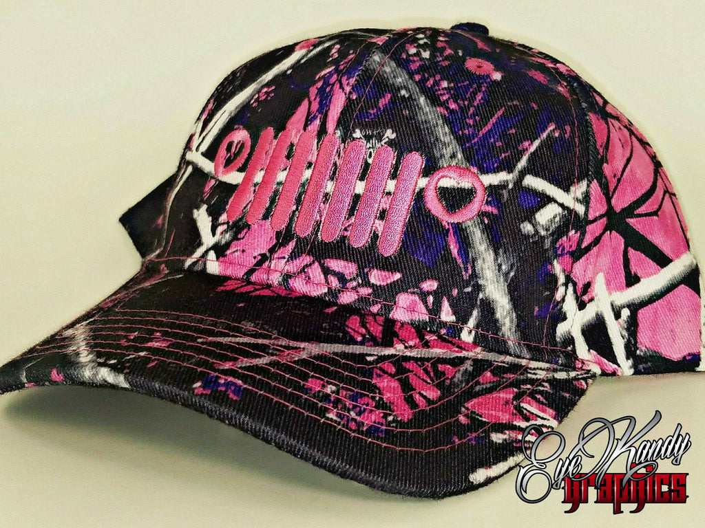 Jeep Love Pink Camo Jeep Hat ~ Jeep Life ~ Jeep Hat ~ Go Topless  ~ Jeep logo