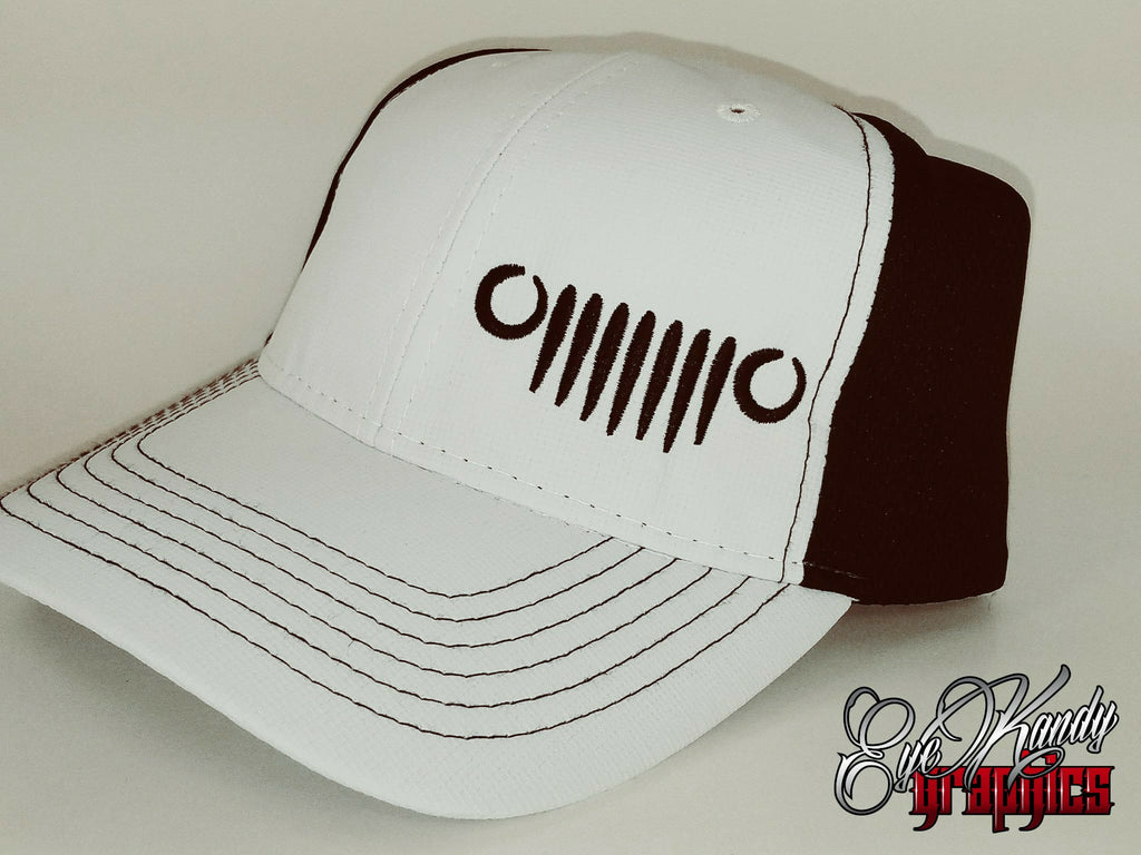 White/Black Mesh Trucker Jeep Hat ~ Jeep Life ~ Jeep Hat ~ Go Topless  ~ Jeep logo