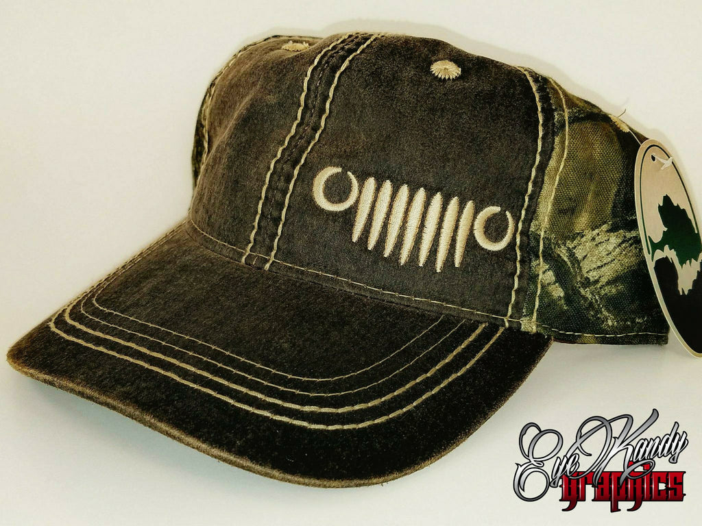 Mossy Oak Camo Jeep Hat ~ Jeep Life ~ Jeep Hat ~ Go Topless  ~ Jeep logo