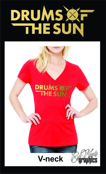 Drums of the Sun Women's Deep V-neck Tee