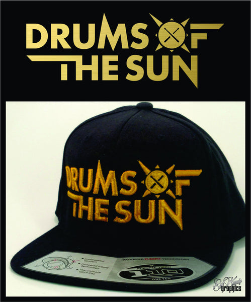 Drums of the Sun Flatbill Snapback 3D PUFF
