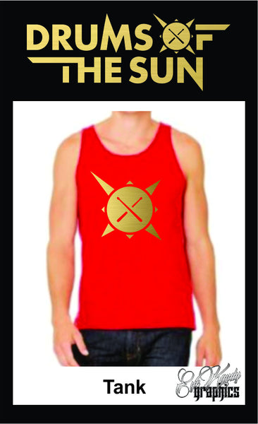 Drums of the Sun Men's TANK with Drum logo