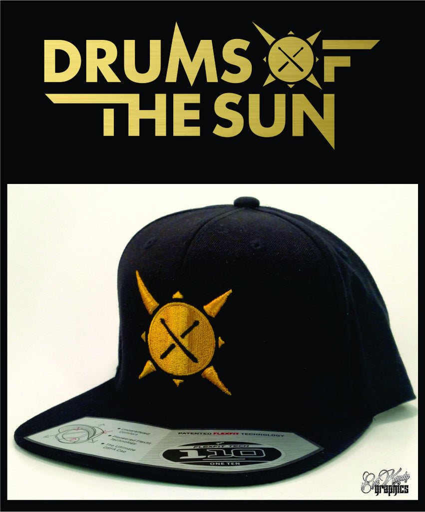 Drums of the Sun DRUM Flatbill Snapback 3D PUFF and flat embroidery