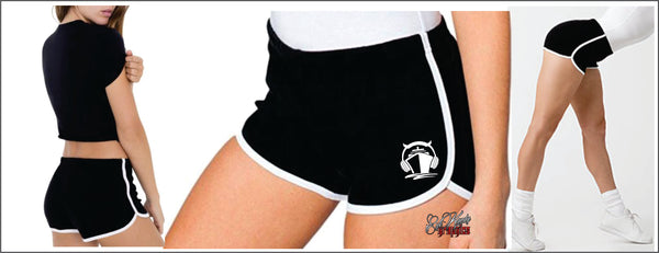 Degenerate Ladies retro running shorts