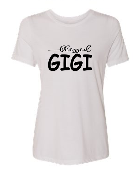 Blessed Gigi/mom shirts/gift for mom/mothers day gift/mom tees/mom t-shirt/mom tops/mom clothes