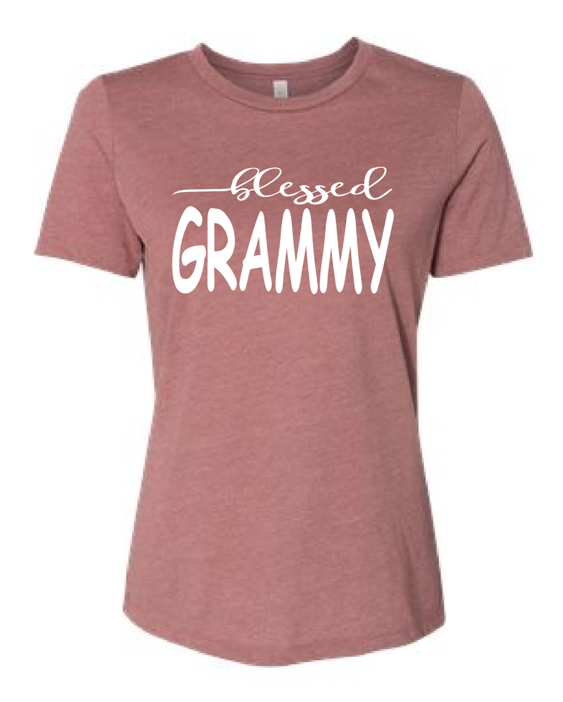 Blessed Grammy/mom shirts/gift for mom/mothers day gift/mom tees/mom t-shirt/mom tops