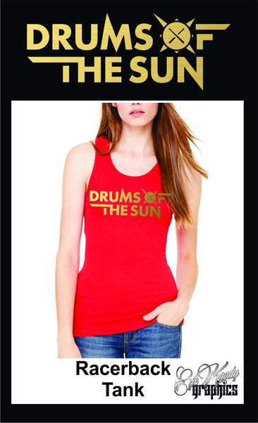 Drums of the Sun Women's Racerback Tank