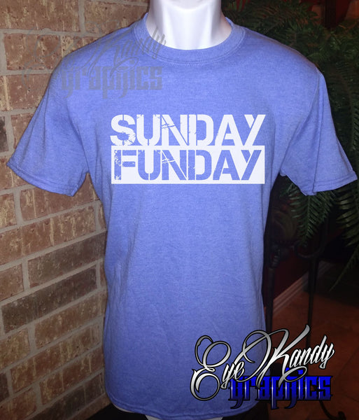 Sunday Funday Shirt with Distressed Print