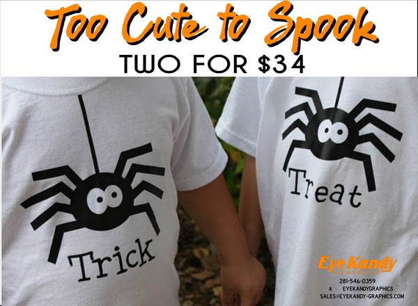 TRICK or TREAT ~ Spider ~ Cute Halloween Shirts
