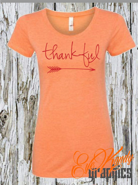 Cute Fall Shirts for Women - Thankful - Womens Shirts for Fall - Vinyl Shirts