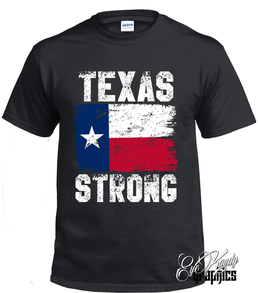 Texas Strong Distressed TX Flag Tee - Recovery Fundraiser