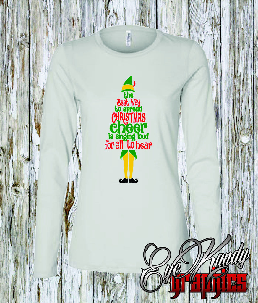 Best way to Spread Christmas Cheer - Womens Christmas Shirt short & long sleeve - Christmas Gifts