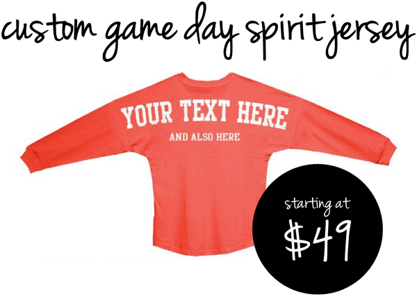Customize your own Spirit Jersey