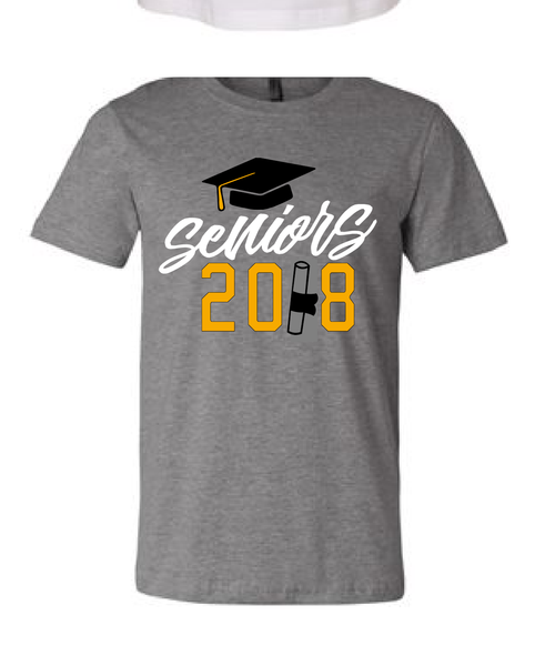 Seniors 2018 / Class Of 2018 / Graduation t-shirt / Graduate Gift / Cap And Gown Shirt