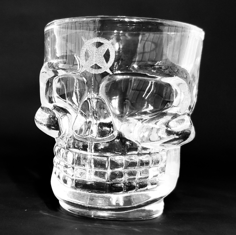 Engraved Skull Shot Glass