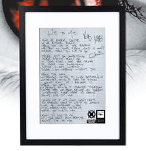 "Load image into Gallery viewer, Hand Written ""The End Of The Beginning"" Lyrics"